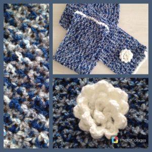 Blauwe shawl v steek