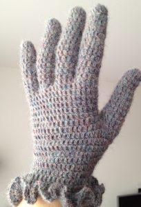 Gehaakte drops handschoenen