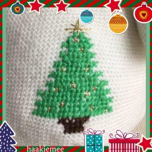 haakpatroon sneeuwpop kerstboom borduren