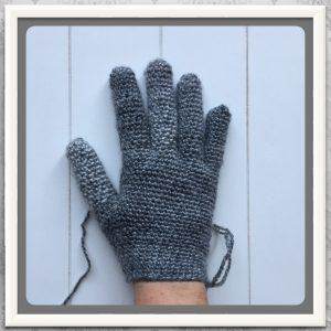 haakpatroon handschoenen gewenste lengte