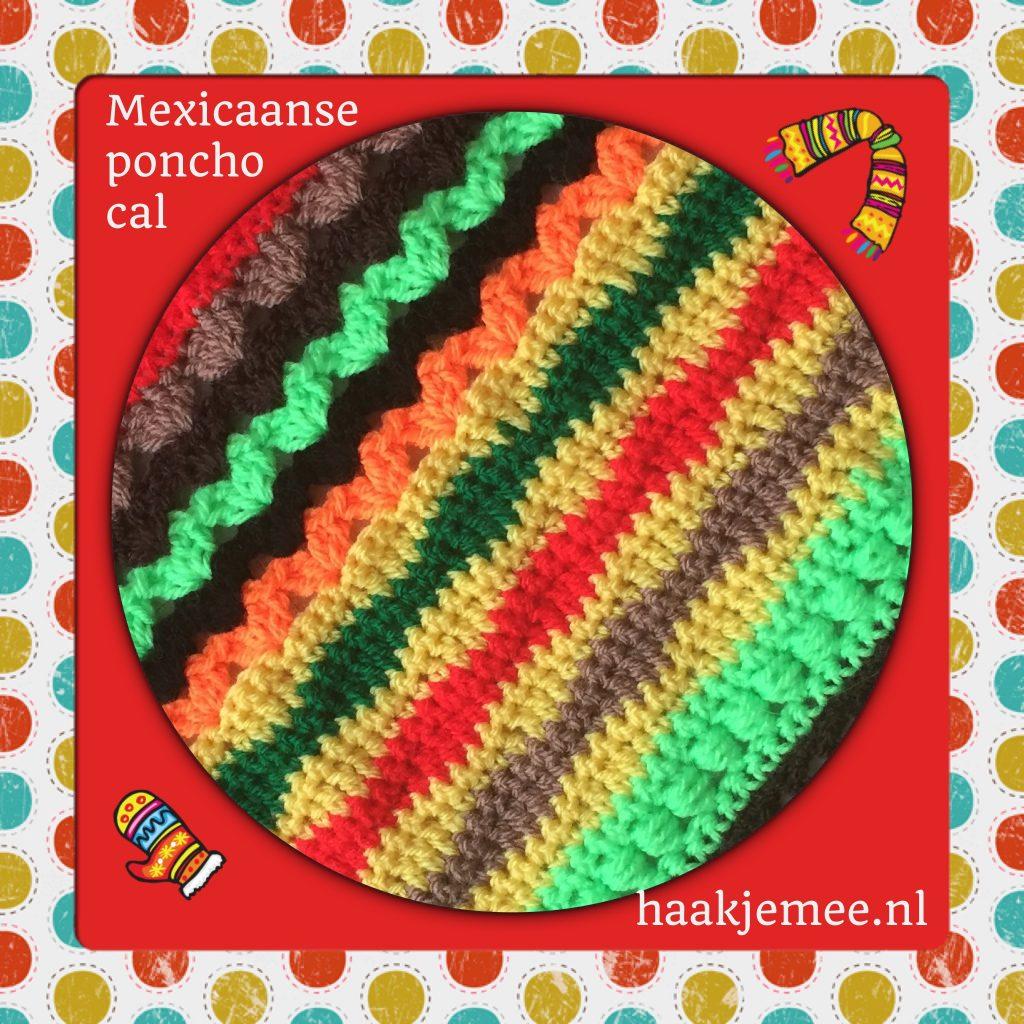 mexicaanse poncho haken