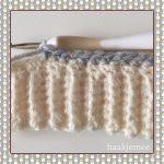 messy bun beanie crochet grey
