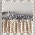 crochet messy bun beanie round 3