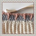 crochet messy bun beanie tiple crochet