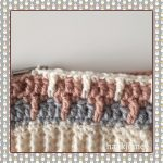 messy bun beanie crochet round 6