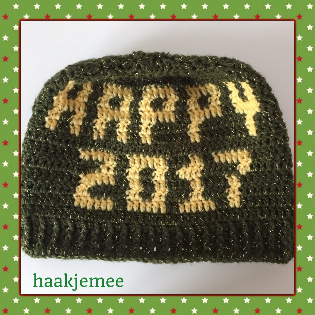 happy new year bun beanie crochet pattern