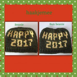new year hat beanie or bun beanie