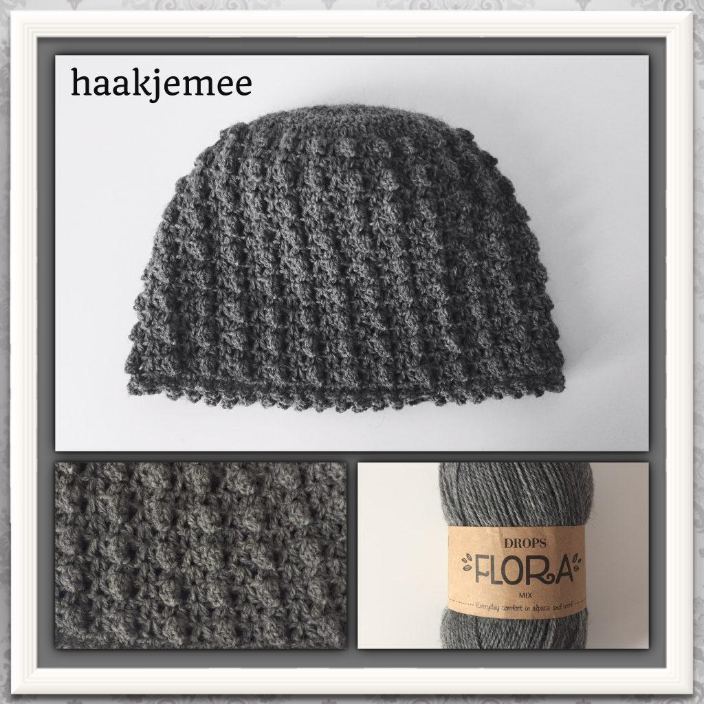 flora bun beanie crochet pattern
