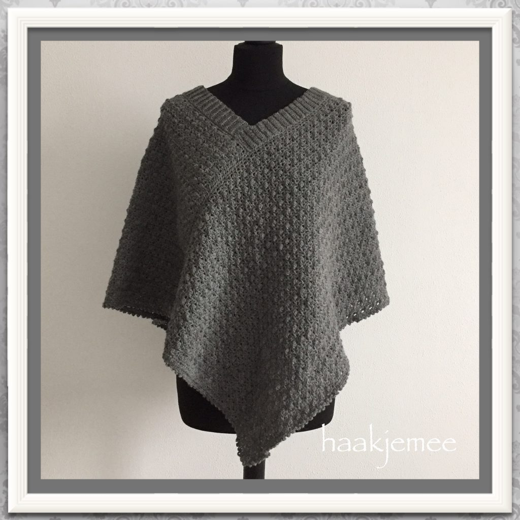 Crochet A Poncho With Two Rectangles Haak Je Mee