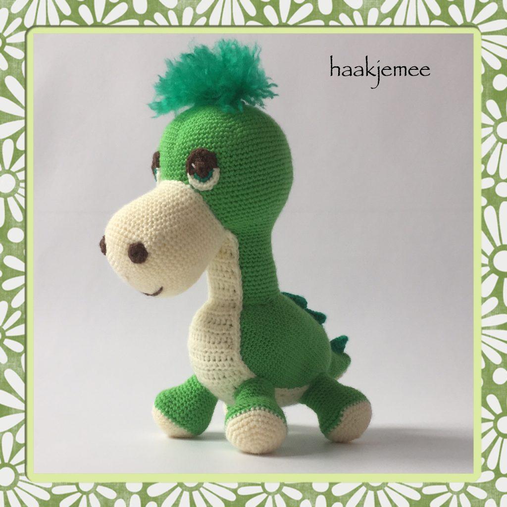 Crochet pattern dinosaur - Haak je mee