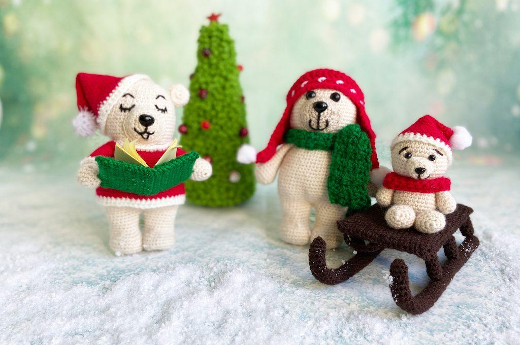 kerstberen haakpatroon