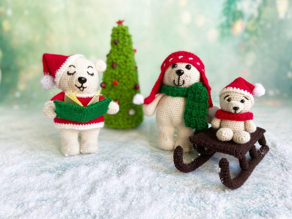 Betere Kerstbeertjes haken, de set! - Haakjemee CD-43