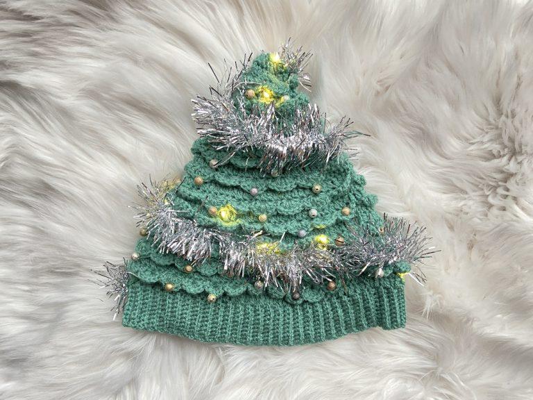 kerstboom muts haakpatroon